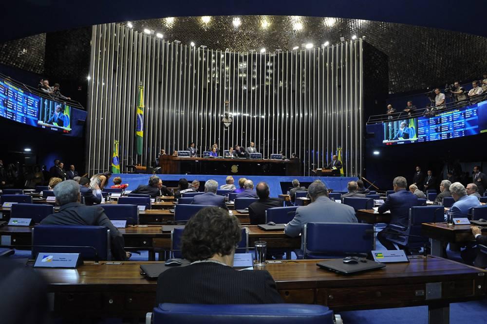 senado plenario 20171017 0056 - Senadores votam e salvam Aécio Neves