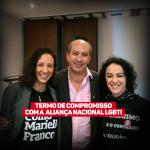 Marcia  assina termo de compromisso junto a Aliança Nacional LGBTI