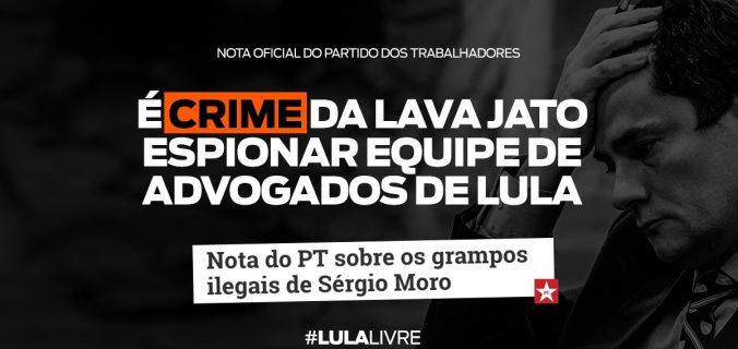 WhatsApp Image 2019 06 06 at 15.13.14 676x320 - Nota do PT sobre os grampos ilegais de Sérgio Moro