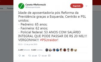 PSLTraidor Twitter 338x210 - PSL Traidor: eleitores se revoltam com flexibilização para policiais na Reforma