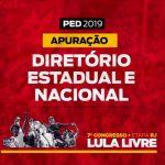 PED 2019/RJ. Apuração Diretório Estadual e Nacional