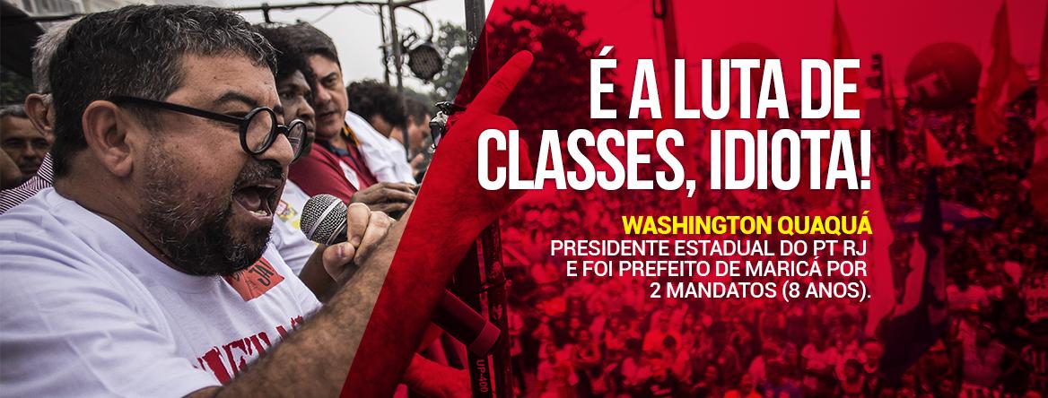 NOTA LUTA DE CLASSES - É a luta de classes, idiota!
