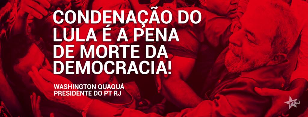coluna nota QUAQUA 1024x389 - Condenação do Lula é a pena de morte da democracia!