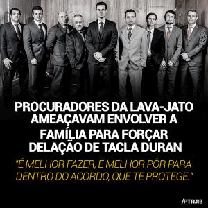 procuradores lava jato e1509740689138 - Tacla Durán diz que procuradores da Lava Jato ameaçaram sua família para forçar delação
