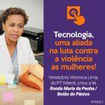 Vereadora Verônica Lima, propõem aplicativo de monitoramento para mulheres.