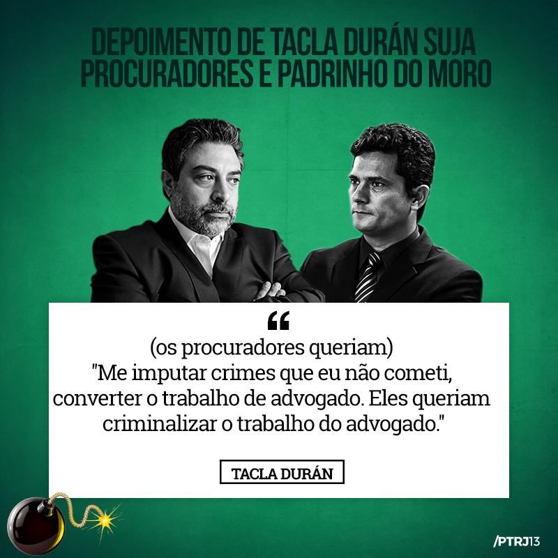 tacla duran 3 - Tacla Duran: Uma pá de cal na reputação de Moro