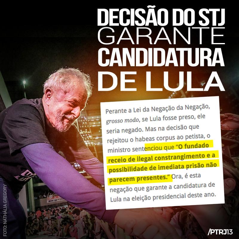 WhatsApp Image 2018 01 31 at 16.05.54 - DECISÃO DO STJ GARANTE CANDIDATURA DE LULA
