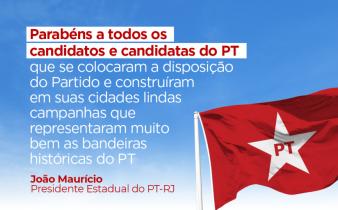 parabéns aos candidatos 2 338x210 - Presidente do PT-RJ analisa o primeiro turno das eleições municipais