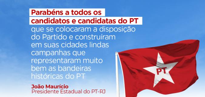parabéns aos candidatos 2 676x320 - Presidente do PT-RJ analisa o primeiro turno das eleições municipais
